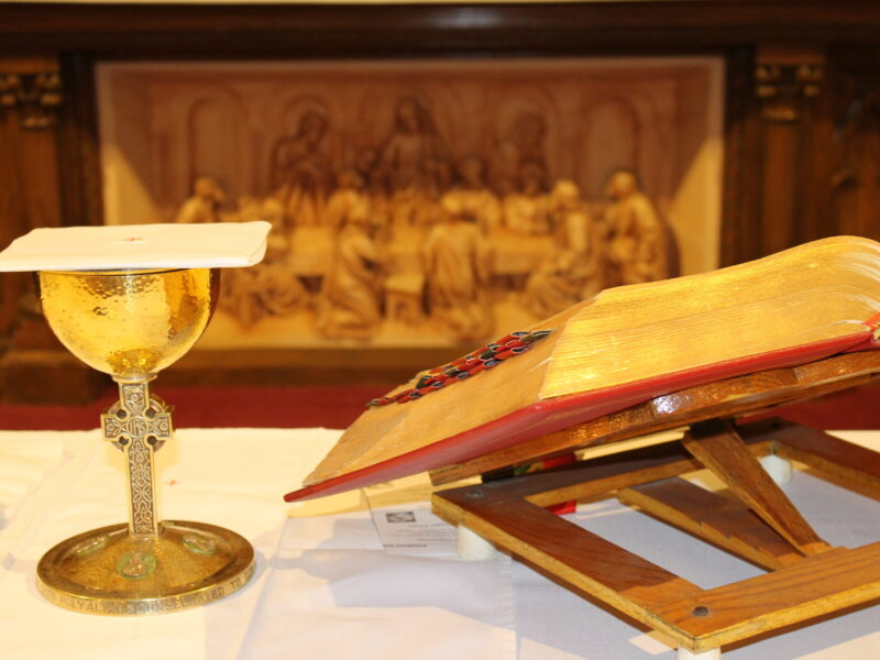 Chalice and Missal on Altar
